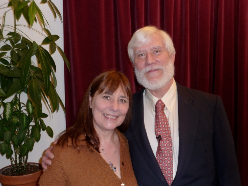 Fahrusha and Tom Campbell at his 2010 NYC seminar
